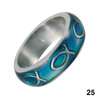 Wholesale Mood Rings - Style 25 - Fish