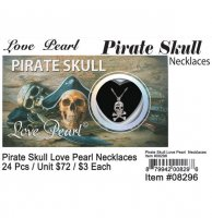 Love Pearl Pirate Skull Necklaces Wholesale