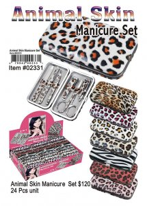 Animal Skin Manicure Set Wholesale