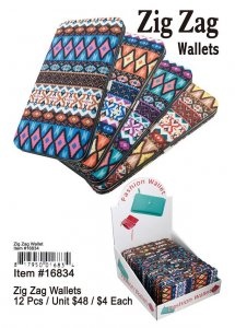 Zigzag Wallets Wholesale
