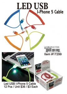 Led Usb Iphone5 Cables Wholesale