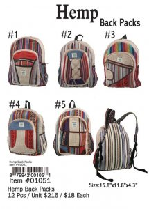 Hemp Backpacks Wholesale