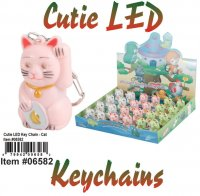Wholesale Cuties Led Key chains CAT