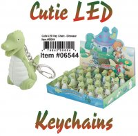 Wholesale Cuties Led Key chains DINOSAUR