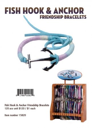 Fish Hook And Anchor Friendship Bracelets Wholesale