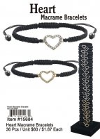 Wholesale Heart Macrame Bracelets