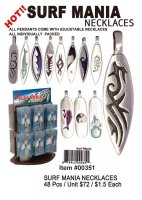 Wholesale Surf Mania Pewter Necklaces