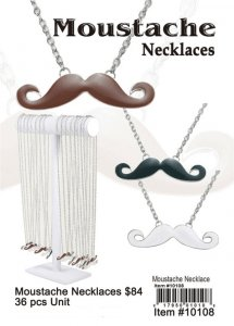 Wholesale Moustache Necklace