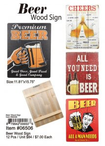 Beer Wood Signs Wholesale