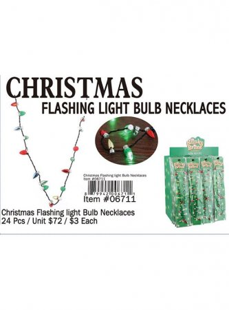 Christmas Flashing Ligh Bulb Necklaces Wholesale