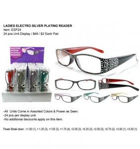 Ladies Electro Silver Plating Reader Esp24