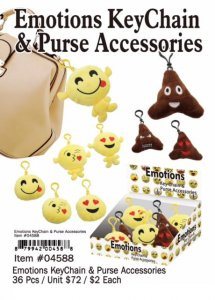Emotions Keychain Purse Accessesories Wholesale