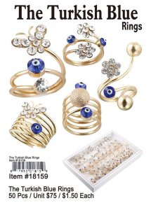 The Turkish Blue Rings Wholesale