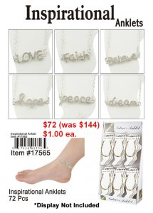 Inspirational Anklets NOW ON CLEARANCE