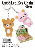 Cutie Bear Led Keychains Wholesale