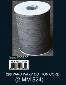 Wholesale 288 Yard Waxy Cotton Cord (2 MM)
