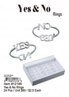 Yes And No Rings Wholesale