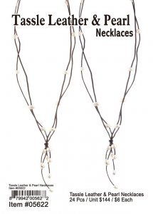 Tassle Leather And Pearl Necklaces Wholesale
