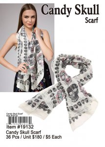 Candy Skull Scarves Wholesale