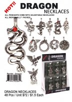 Dragon Pewter Necklaces Wholesale