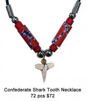 Confederate Shark Tooth Necklaces Wholesale