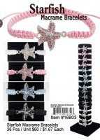 Starfish Macrame Bracelets Wholesale