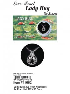 Love Pearl Lady Bug Necklaces Wholesale