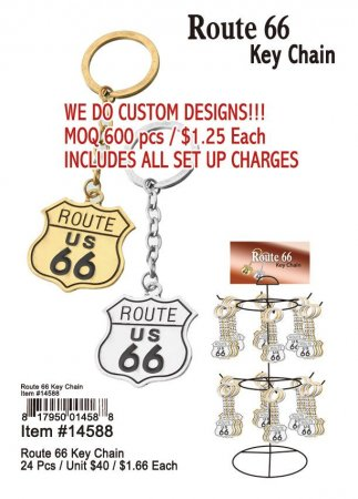 Route 66 Keychains Wholesale