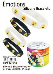 Emotions Silicone Bracelets Wholesale