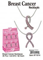 Breast Cancer Necklaces Wholesale