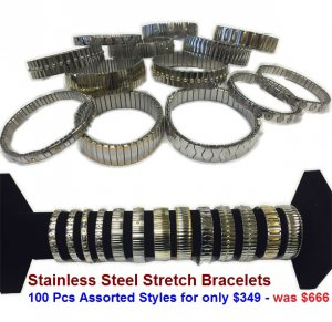 Stainless Steel Stretch Bracelets NOW ON CLEARANCE
