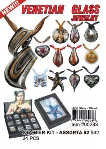 Wholesale Murano Glass Necklaces Kit venetian Glass assorta 2