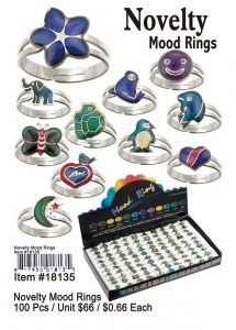 Novelty Mood Rings Wholesale