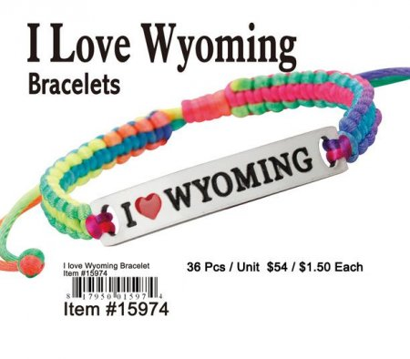 Wholesale I Love Wyoming Bracelets