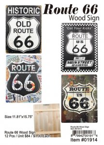 Route 66 Wood Sign Wholesale