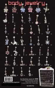 Wholesale Body Jewelery Refill Pack