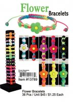 Neon Flower Bracelets Wholesale