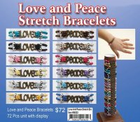 Love and Peace Stretch Bracelets NOW ON CLEARANCE