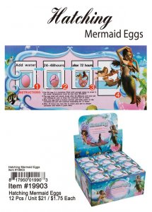 Hatching Mermaid Eggs Wholesale