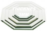 3mm Beveled Edge OCTAGON Mirrors in Various Sizes and Lots