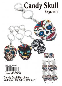 Candy Skull Keychains Wholesale