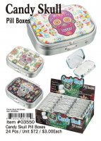 Candy Skull Pill Boxes Wholesale