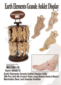 Wholesale Earth Elements Grande Anklet Display
