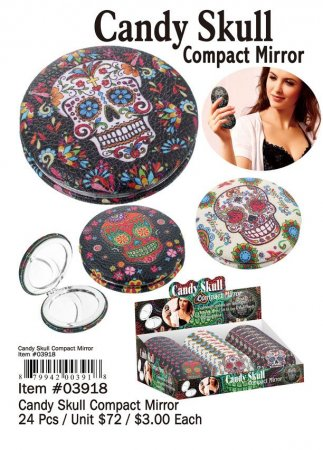 Candy Skull Compact Mirror Wholesale