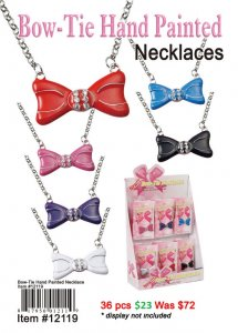 Bowtie Hand Painted Necklaces NOW ON CLEARANCE