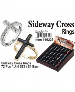 Sideway Cross Rings NOW ON CLEARANCE