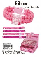 Ribbon Survivor Bracelets Wholesale