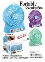 Portable Chargable Fans Wholesale