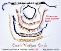 Cowrie Necklace Combo Wholesale - Closeout