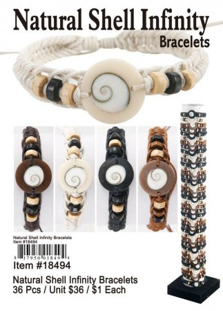 Natural Infinity Shell Bracelets Wholesale